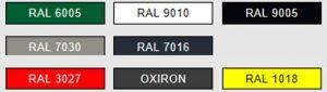 La tabla de gama cromática de colores ral hace referencia a los códigos de color que identifican cada tono