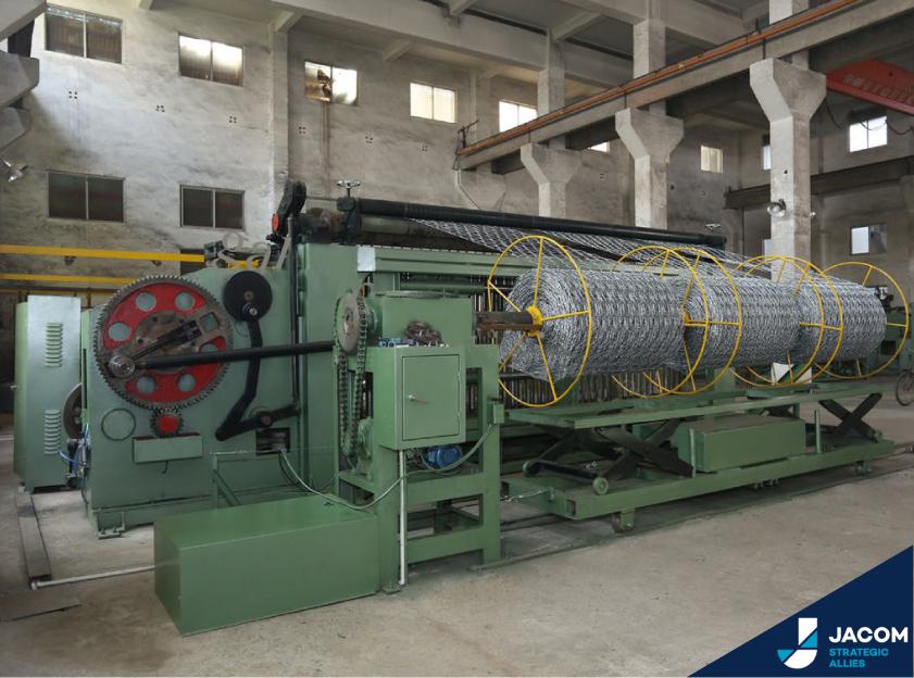 maquina para fabrica gaviones de acero para refuerzo de barreras anti derrumbes y refuerzos