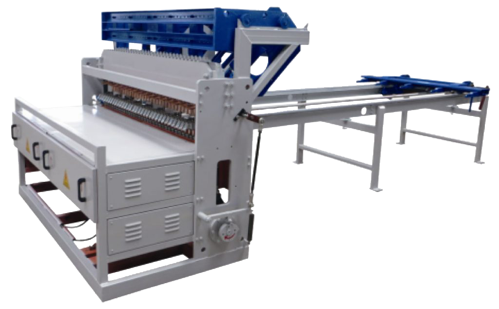 machine for manufacturing electrowelded mesh panels