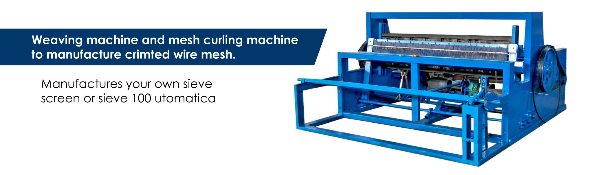 crimped mesh machine full automatic