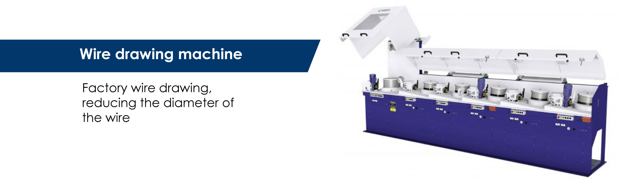 Wire drawing machine for drawing steel iron wires/drawing machine